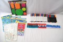 Craft Supply's Lot: Markers, Glue Sticks, Stickers