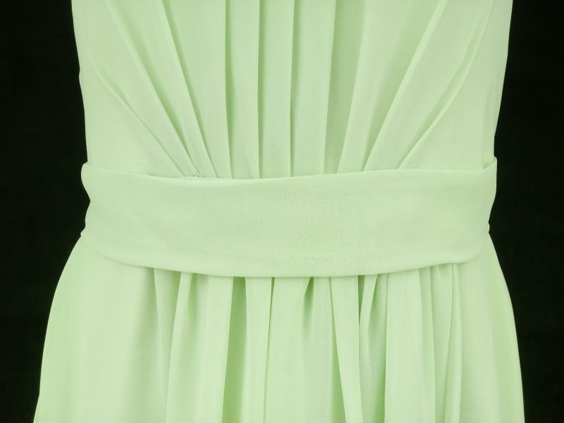 Green Chiffon Halter Dress Formal Bridesmaid Princess Tiana Cosplay Women's Sz 8