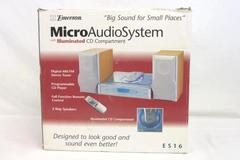 Emerson Micro Audio System Illuminated CD Compartment Remote Speakers AM FM ES16