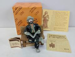VTG Flambro Miniature Emmett Kelly Jr Figurine Big Business 10014 w/ Box COA Tag