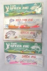 Lot Of 5 Speck Rig Fishing Lures Twin Jigs Tied on 20lb. Test