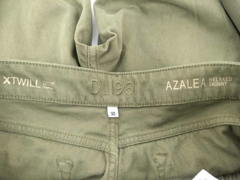 DL1961 Jeans Azalea Relaxed Skinny X Twill Sprint Green Sz 30 NWT $178