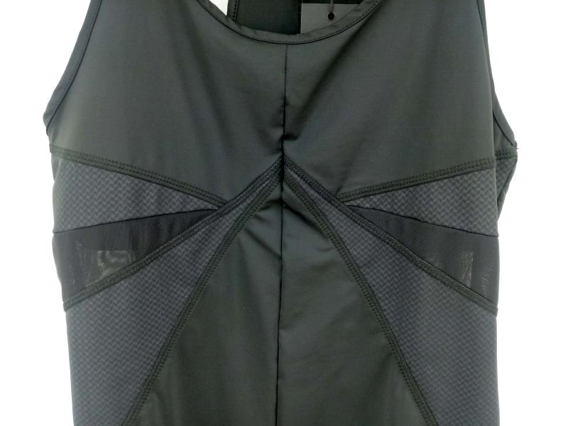 SOLOW Herringbone Tank Black Racerback Mesh Panels Activewear Womens Sz  L NWT