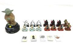 Lot of Star Wars Figurines Lucasfilm Ltd Miniature Strom Trooper Jedi