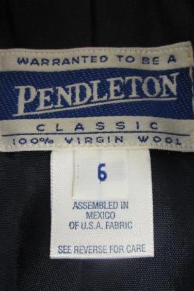 Women's Blue Business Jacket By Pendleton Size 6 100% Virgin Wool