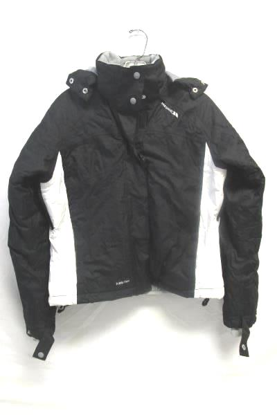 Men's Black White Coat Detachable Hood By Trespass Size S 100% Polyester