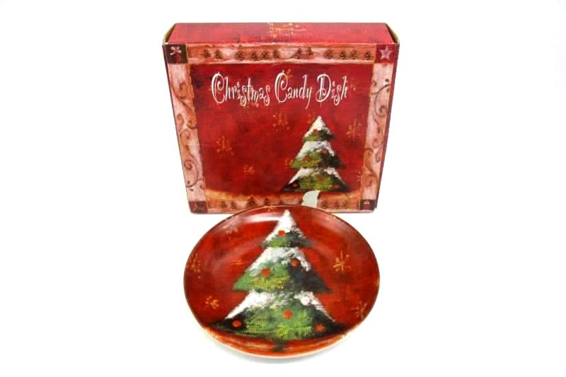 Cypress Home Christmas Tree Candy Dish #601