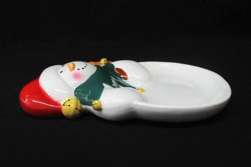 "Hallmark Ceramic Snowman Cookie Tray 11"""