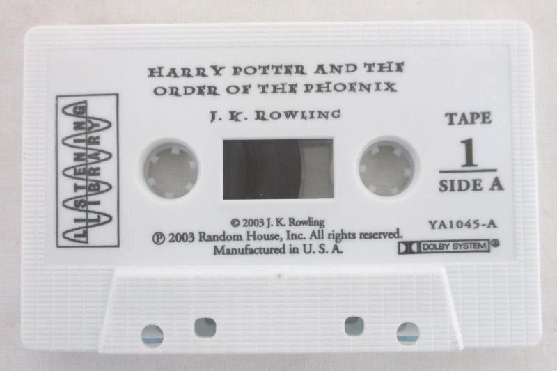 Harry Potter and the Order of the Phoenix Unabridged on 17 Cassettes Audio Book