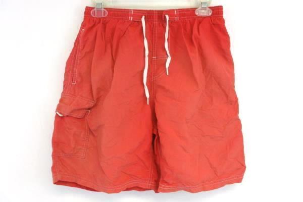 Lot of 2 Medium Men's Shorts Wrangler Gray Shorts + Coral Swim Trunks