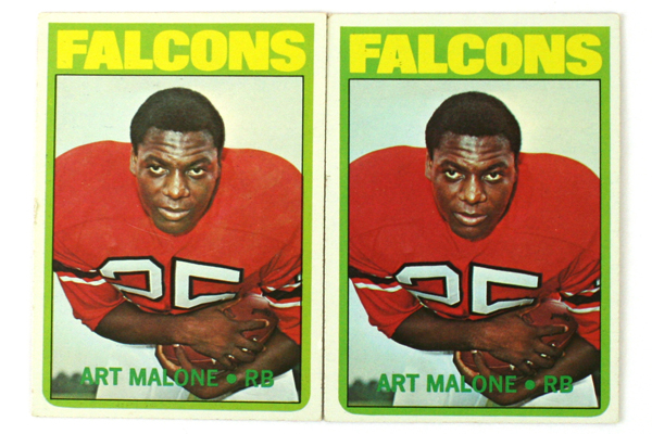 Lot of 2- 1972 Topps Art Malone RB Atlanta Falcons #148 Football Cards