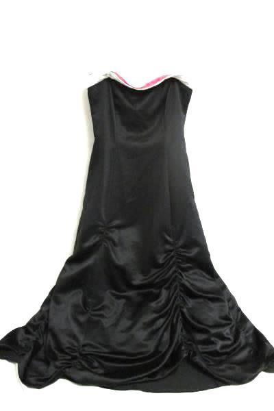 Long Dress By Niki Livas Black, Pink, And White Women's Size 12