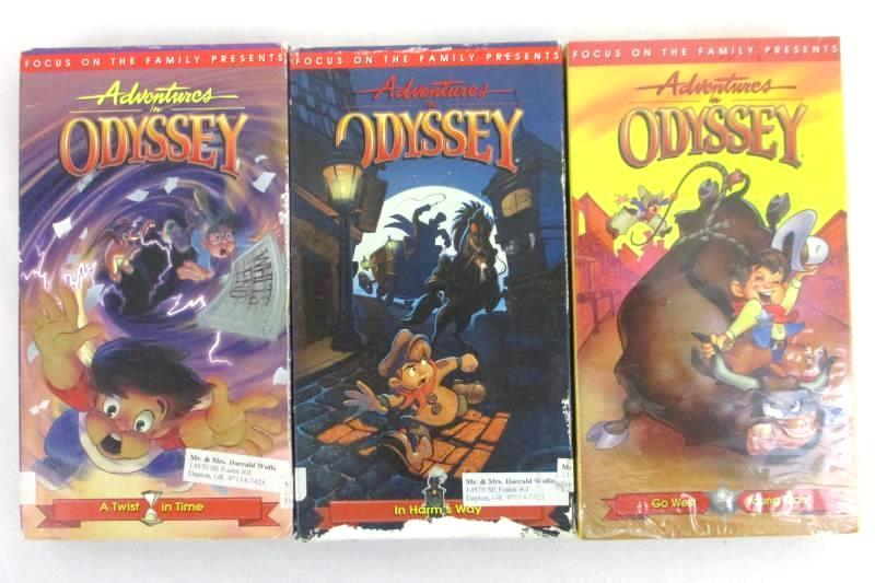 Lot of 3 Adventures in Odyssey VHS Tapes Focus on the Family
