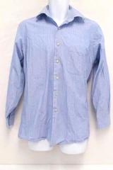Calvin Klein Blue Striped 100% Cotton Button Down Long Sleeve Shirt Men's M
