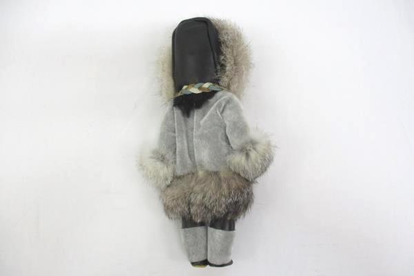 Lot of Two Dolls Plush & Plastic Eskimo Inuit Arctic Circle & Unbranded