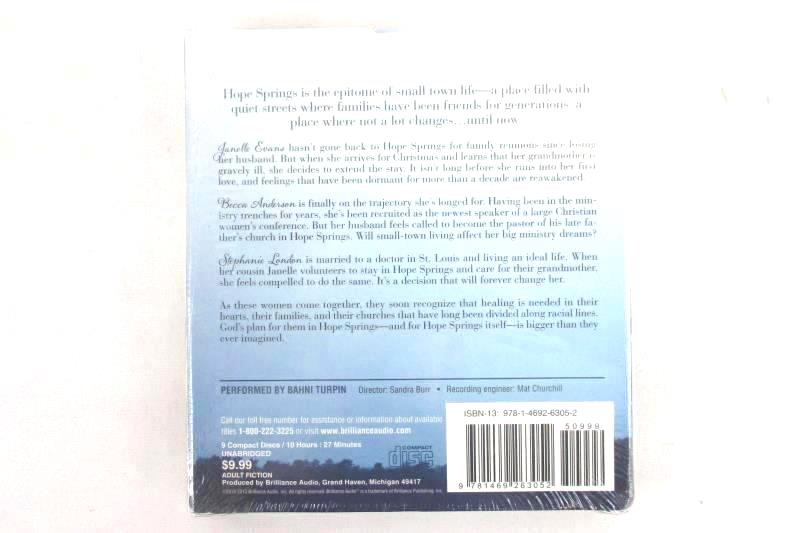 Hope Springs Brilliance Audiobook Compact 9 Disc Set Unabridged Kim Cash Tate
