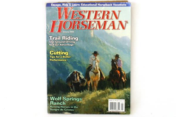 Western Horseman Magazine January 2003 Vol. 68 No. 1
