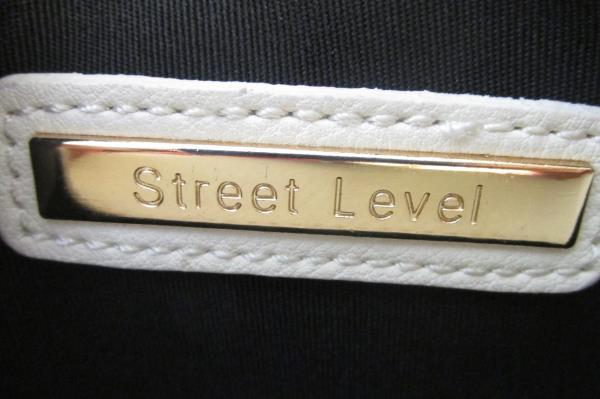 Envelope Clutch Purse Street Level Cream Leather Tassel Puller  Women's-