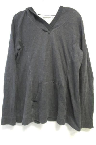 Hooded Sweatshirt By Eddie Bauer Grey Women's Size M