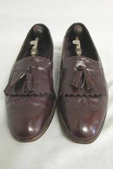 Dress Shoes Florsheim Brown Wing Tip Tassel Men's Size 71/2 Comes W/ Shoe Horns