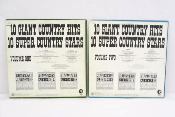 10 GIANT COUNTRY HITS 10 SUPER COUNTRY STARS Volume 1 & 2 Vinyl LP Record Set