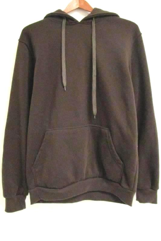 Pullover Drawstring Hoodie True Rock Brown 100% Polyester Women's Size Medium