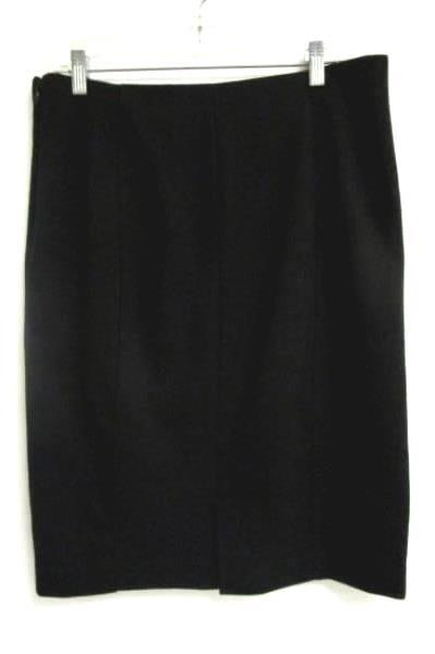 Skirt Coldwater Creek Black Polyester Blend Women's Size 12 ***DRY CLEAN ONLY***