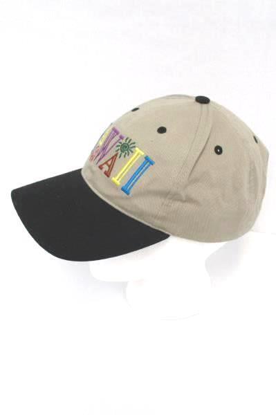 Hawaii Souvenir Hat Hawaiian Headwear Snap Back Cap Multicolored Adjustable
