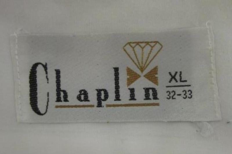 White Button Up Dress Shirt By Chaplin Men's Size XL 32-33
