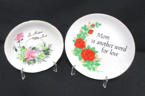 Lot of 2 Mother Mom Themed Collector Plates Heirloom Editions Norcrest Porcelain