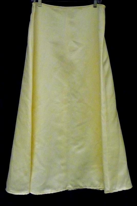 Jessica McClintock Bridal Women's 2pc Lace Up Corset Yellow Formal Gown Sz 16