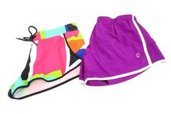 Lot of 2 Athletic Shorts Women's Size Small Colorful Fabletics + Purple Aerie