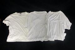 Lot of 3 XL Men's White T-Shirts Hanes Comfort Blend And H&M