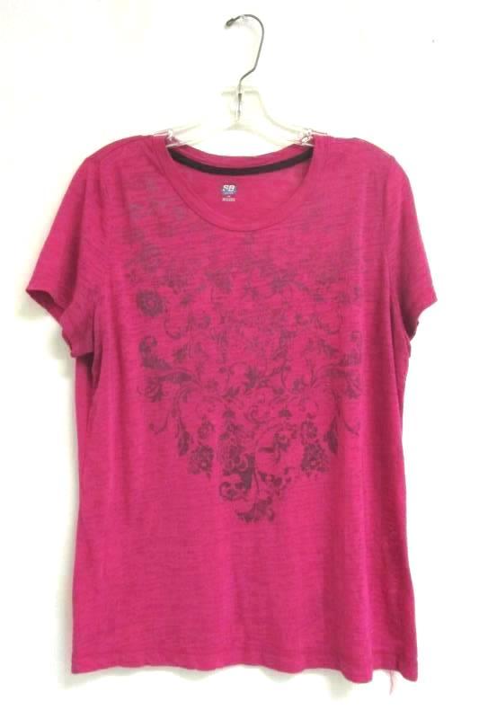 SB Active Pink Short Sleeved Women's Size Large Patterned Shirt