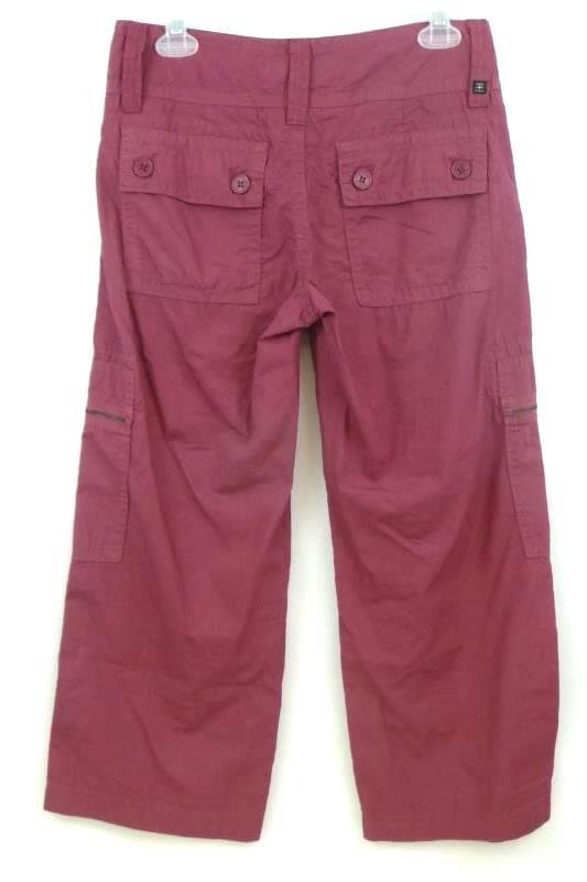 Billy Blues Women's Wide Leg Burgundy Red Capri Cropped Pants Size 0