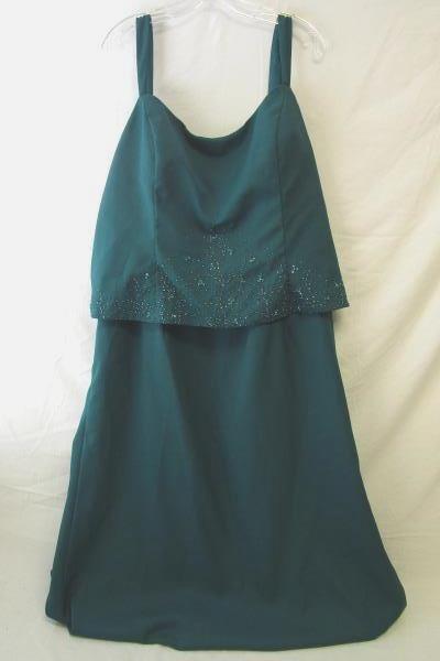Women Timeless Beauty Dress & Jacket Jade Green Mother Bride Groom Plus Size 24