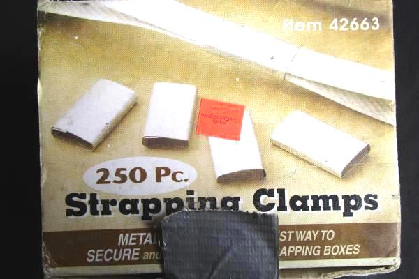 Box Of 250 Piece Strapping Clamps Harbor Freight Tools #42663