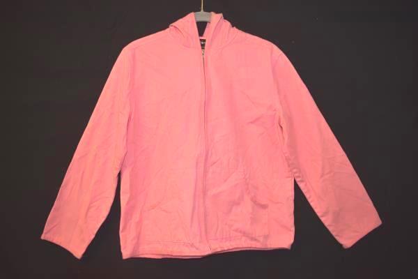 Women ERIKA Pink Jacket Size Petite Small Full Zip Hood 100% Cotton