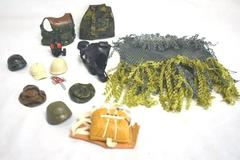 "Lot Of Multi-Colored Misc. Hats And Outfits For 12"" Action Figures"