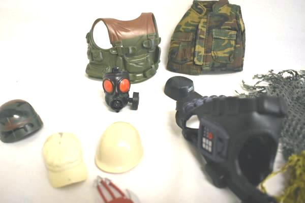 """Lot Of Multi-Colored Misc. Hats And Outfits For 12"""" Action Figures"""