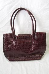 Dark Red Handbag Purse Animal Print Theme 100% PVC