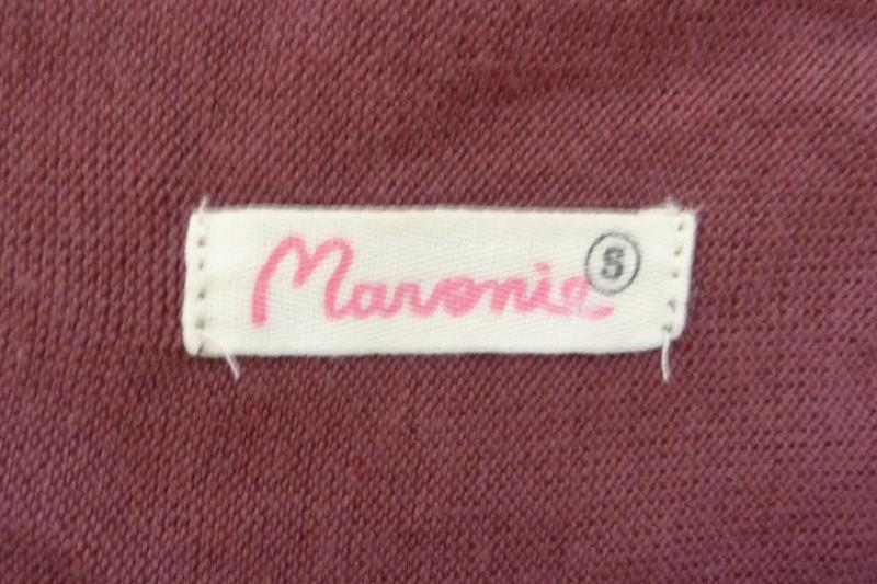 Maronie Women's Maroon Long Sleeve Wrap Tassel Sweater Size S