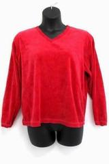 D & Co Denim & Co Women's Size XL Salmon Pink L/S V Neck Fleece Lounging Shirt