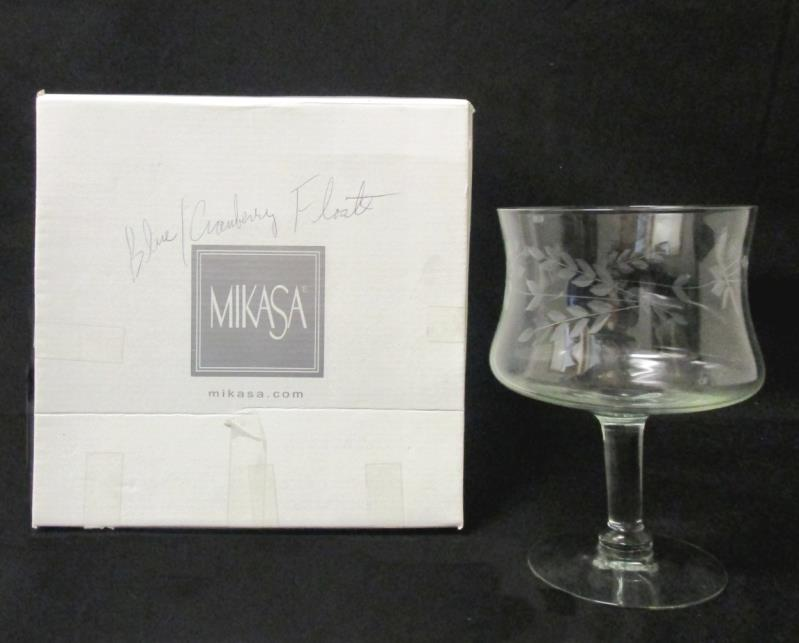Mikasa Crystal Goblet With Engraved Design