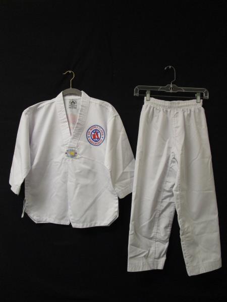 Sang Moo Sa Kids Martial Arts Uniform Set w/ White Belt Size 1
