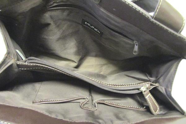 Mundi Handbag Purse Tote Brown Grommet Strap