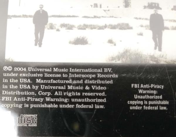 U2 // How To Dismantle An Atomic Bomb CD 2004 Universal Music NEW Sealed