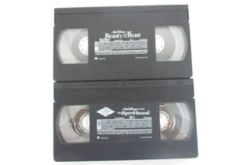 Lot of 2 Black Diamond VHS - Fox And The Hound & Beauty And The Beast