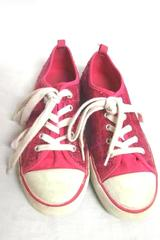 Old Navy Pink Sequin Lace Up Sneakers Girl's Size 4