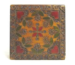 Collectible Handcrafted Basswood Polished Box Multicolored Floral Print